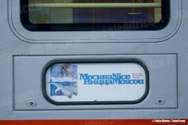 Il treno Espresso 13021 Mosca-Nizza: la tabella di percorrenza del treno Mosca-Nizza. (25/09/2010; © Jacopo Raspanti / tuttoTreno)