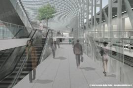 Un rendering di come sarà la nuova stazione di Torino Porta Susa. (© Ferrovie dello Stato / tuttoTreno)