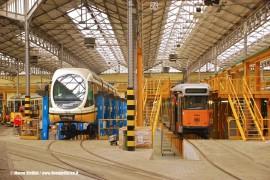 Porte aperte all'ATM di Milano: i tram 7523 e 4804 in manutenzione al Deposito Messina. (03/10/2010; foto Marco Stellini / TuttoTreno)