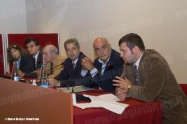 Un momento del convegno commemorativo per i 100 anni della linea Reggio Emilia - Ciano d'Enza. (Ciano, 09/10/2010; © Marco Bruzzo / tuttoTreno)