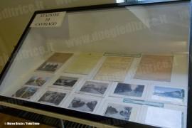 Una bacheca della mostra commemorativa per i 100 anni della linea Reggio Emilia - Ciano d'Enza. (Ciano, 09/10/2010; © Marco Bruzzo / tuttoTreno)