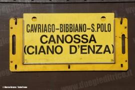 La tabella di percorrenza del treno commemorativo per i 100 anni della linea Reggio Emilia - Ciano d'Enza. (Ciano, 09/10/2010; © Marco Bruzzo / tuttoTreno)