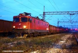 La locomotiva 461 208 delle ferrovie serbe alla testa di un treno merci nella stazione di Mala Krsna. (13/09/2009; Francesco Maria / tuttoTreno)