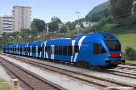 Il rendering del FLIRT ETR 360 a sei casse ordinato da Sistemi Territoriali (Regione Veneto) al consorzio tra Stadler e AnsaldoBreda. (© Stadler / tuttoTreno)