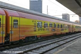 La carrozza Unica del treno di Arena Ways a Milano Porta Garibaldi. (21/01/2011; foto Marco Bruzzo / tuttoTreno)