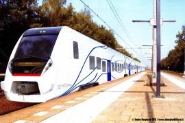 Il rendering del treno Civity della CAF ordinato dalla Regione FVG. (Regione Friuli Venezia Giulia / tuttoTreno)