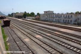Il piano binari della stazione di Golfo Aranci. (17/07/2009; foto Gianfranco Berto / tuttoTreno)
