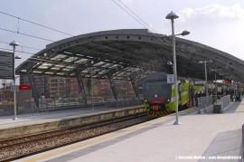 La nuova stazione delle Ferrovie Nord Milano realizzata ad Affori in corrispondenza del prolungamento della MM3 per Comasina. (30/03/2011; Giovanni Molteni / tuttoTreno)