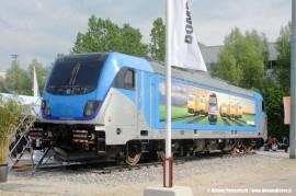 E' stata presentata alla fiera Transport Logistic di Monaco di Baviera la Bombardier TRAXX di terza generazione. (11/05/2011; Helmut Petrovitsch / tuttoTreno)