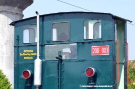 Particolare della sogliola 208 003 della Ferrovia del Basso Sebino. (07/05/2011; foto Carlo Bonari / tuttoTreno)