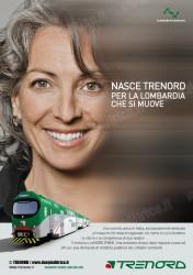 Uno dei manifesti della campagna pubblicitaria di TRENORD presentata oggi 20 maggio 2011. (copyright TRENORD / tuttoTreno)