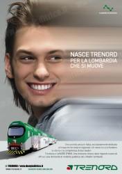 Uno dei manifesti della campagna pubblicitaria di TRENORD presentata oggi 20 maggio 2011. (copyright TRENORD / tuttoTreno)vv