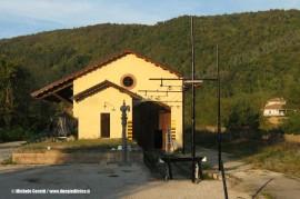 Il magazzino merci della stazione di Nucetto dove troverˆà posto il Museo che verrˆà inaugurato domenica 9 ottobre. (30/09/2011; foto Michele Cerutti / tuttoTreno)