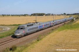 L'EC 9248 Milano–Parigi espletato dal TGV 4505. (Olcenengo, 16/09/2008; foto Massimo Rinaldi / tuttoTreno)